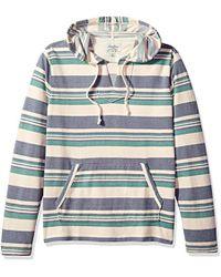 Lucky Brand Baja Pullover Hooded Sweatshirt - Gray