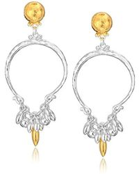 Gurhan - Vertigo Flurries Collection Sterling Silver Tassel Hoop Post Drop Earring, One Size - Lyst