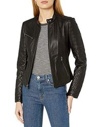 Levi's Smooth Lamb Leather Cut Racer - Black