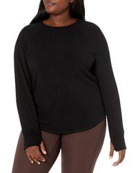 Core 10 Cloud Soft Yoga Fleece Long Sleeve - Black