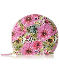 Buxton Spring In Bloom Domed Coin Purse - Pink