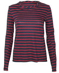 Pam & Gela - Long L/s Boatneck Tee W/laceup Back - Lyst