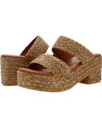 Matisse Platform Slide Sandal - Brown