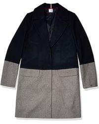 Tommy Hilfiger Adaptive Wool Coat With Hidden Snap Closure - Gray