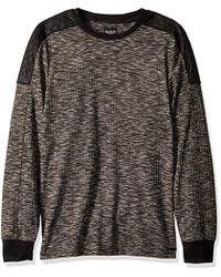 Guess - Long Sleeve Space Panel Crew Neck Shirt - Lyst