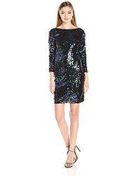 Vero Moda - Thilde Sequins 3/4 Sleeve Dress - Lyst