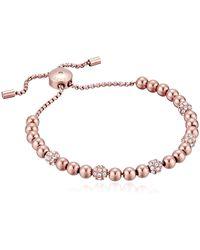 Michael Kors Blush Rush Rose Gold-tone Bead Bangle Bracelet - Multicolour