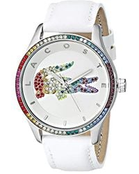 Lacoste 2000822 Quartz Movement Victoria Watch, White/multi - Multicolor