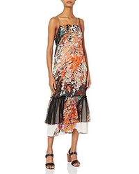 Tracy Reese Overlay Slip - Multicolor