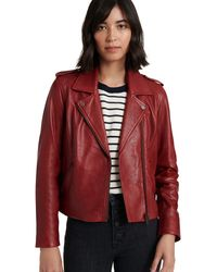 Lucky Brand Moto Jacket - Red