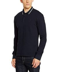 Armani Jeans - Slim Fit Long Sleeve Pique Polo Shirt - Lyst