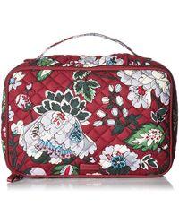 Vera Bradley Signature Cotton Large Blush & Brush Makeup Organizer Case - Red