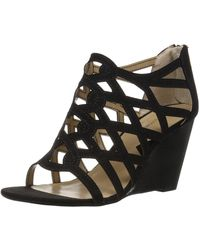 Adrienne Vittadini Footwear Alby Wedge Sandal - Black