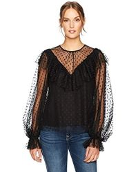 99d4a71e8343d7 CLU Victorian Blouse With Lace in Black - Lyst