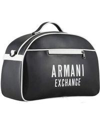 Armani Exchange | Bold Logo Eco Lether Duffle Bg - Black