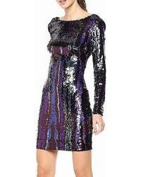 Dress the Population - Lola Long Sleeve Sequin Dress - Lyst