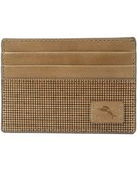 Tommy Bahama Leather Slim Card Case Carrier Wallet - Multicolor