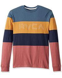 RVCA Shifty Long Sleeve Crew Neck Shirt - Blue
