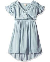 O'neill Sportswear Maya Woven Dress With Hi Lo Hem - Blue
