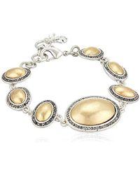 Lucky Brand - S Pave Gem Link Bracelet - Lyst