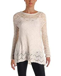 0ad8067320f Lyst - Jessica Simpson Knit Cold-shoulder Pullover