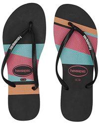 30b8c3952 Lyst - Havaianas Tria Print Sandal New Graphite