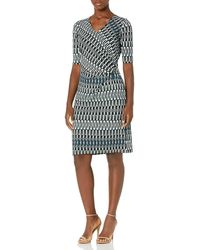 NIC+ZOE Batik Stripe Twist Dress - Blue