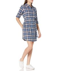 Goodthreads Flannel Relaxed Fit Belted Shirt - Blue