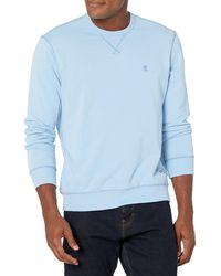 Izod Saltwater Long Sleeve French Terry Crewneck Sweatshirt - Gray