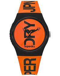 Superdry - ' Urban' Quartz Plastic And Silicone Casual Watch, Color:orange (model: Syg189ob) - Lyst