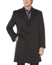 Kenneth Cole Reaction Raburn Wool Top Coat - Brown