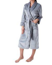 N Natori Plush Fleece Robe - Black