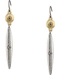 Lucky Brand - S Linear Drop Earrings - Lyst