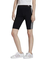 adidas Originals Womens Biker Shorts Black/white Xx-small