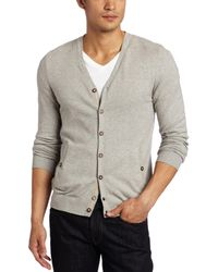 Ted Baker Frobish Cardigan Sweater - Gray