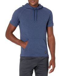 Peak Velocity French Terry Short Sleeve Athletic-fit - Blue