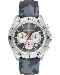 Michael Kors Damen Analog Quarz Uhr mit Edelstahl Armband MK3836 - Mettallic