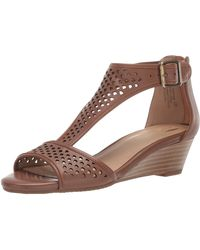 Aerosoles Sapphire Wedge Sandal - Brown