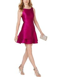 Adrianna Papell - Jacquard Party Dress - Lyst
