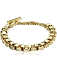 French Connection - Medium Box Chain Bracelet - Lyst