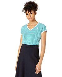 a1a013e3c J.Crew Petite Thin Stripe Cropped Button-down Shirt in Blue - Lyst