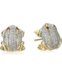 Noir Jewelry - Mini Rana Stud Earrings - Lyst