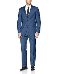 Tommy Hilfiger Modern Fit Performance Suit With Stretch - Blue