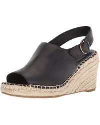 Taryn Rose Winnie Soft Vachetta Espadrille Wedge Sandal - Black