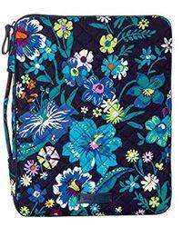 Vera Bradley Iconic Tablet Tamer Organizer, Microfiber - Blue