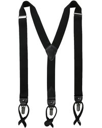 Tommy Hilfiger 32mm Suspender With Convertible Clip - Black