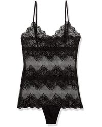 Only Hearts So Fine Lace Cheeky Bodysuit - Black
