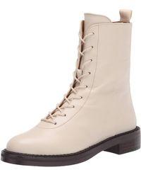 Sam Edelman Nellyn Combat Boot Modern Ivory 5.5 Medium - White