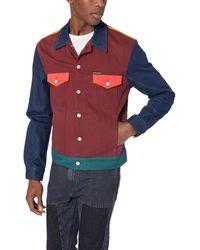 Calvin Klein - S Denim Trucker Jacket Long Sleeve Denim Jacket - Lyst