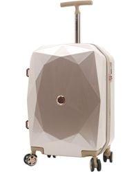 Kensie 3d Gemstone Tsa Lock Hardside Spinner Luggage - Pink